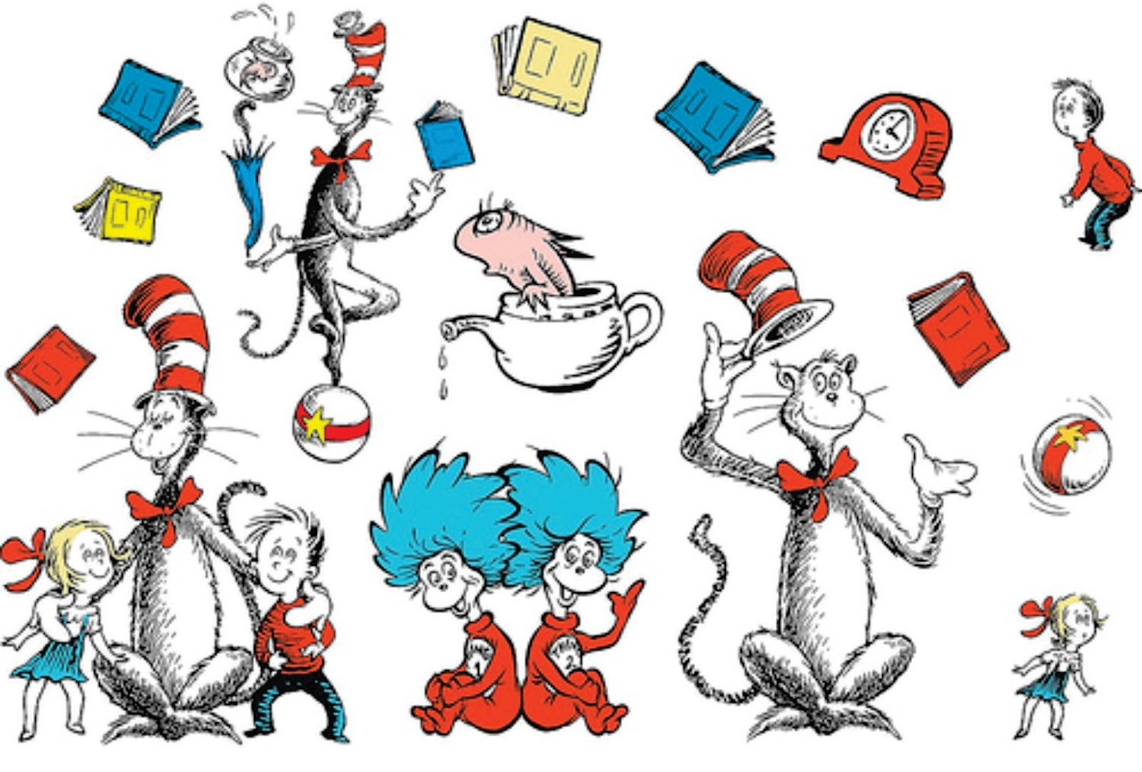 the artistic side of ted geisel from the cat in the hat by dr seuss